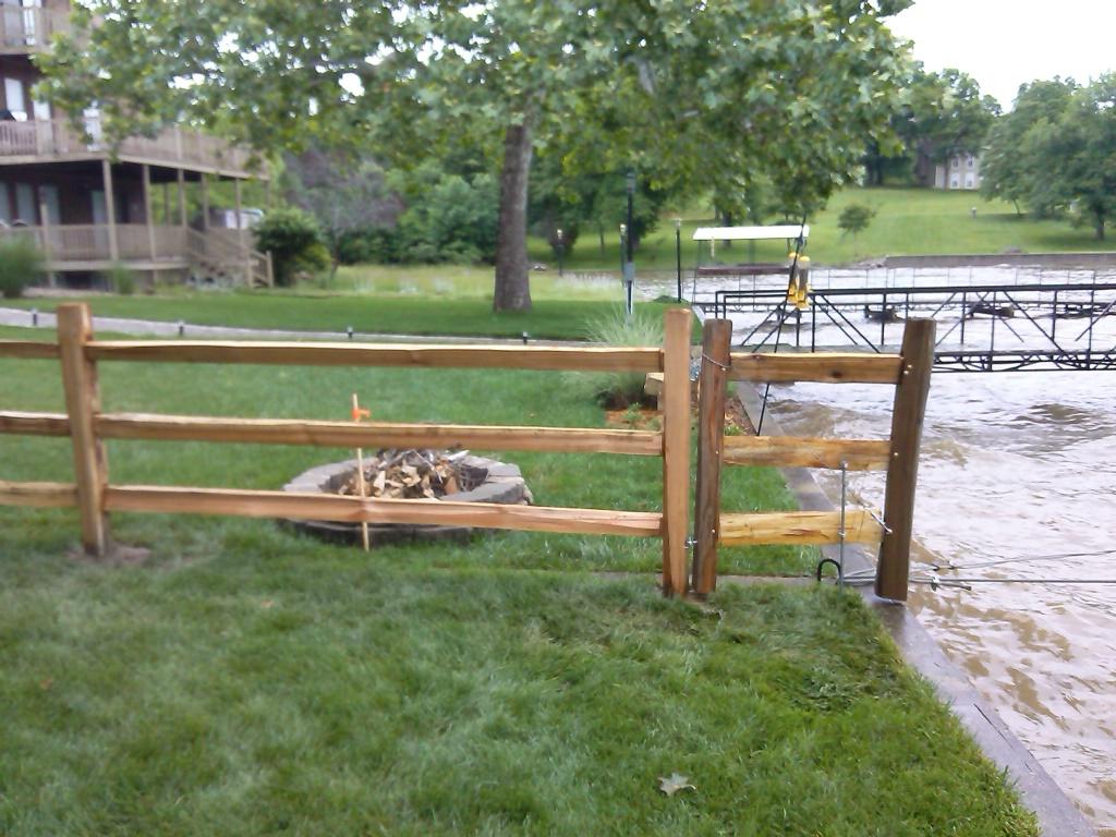 Wood fencing 3 3 rail western red cedar split rail baanklon Gallery